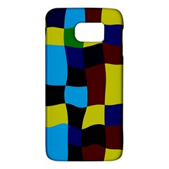 Distorted Squares In Retro Colors			samsung Galaxy S6 Hardshell Case by LalyLauraFLM