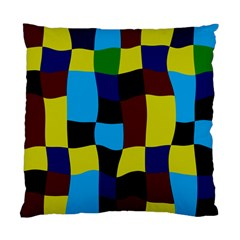 Distorted Squares In Retro Colors 	standard Cushion Case (two Sides) by LalyLauraFLM