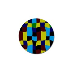 Distorted Squares In Retro Colors 			golf Ball Marker (4 Pack) by LalyLauraFLM