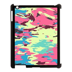 Chaos Texture			apple Ipad 3/4 Case (black) by LalyLauraFLM