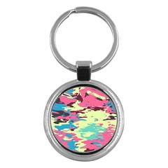 Chaos Texture 			key Chain (round) by LalyLauraFLM