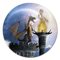 Dragon Land 2 Magnet 5  (round) by gatterwe