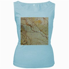 Stone Floor Marble Women s Baby Blue Tank Tops by essentialimage