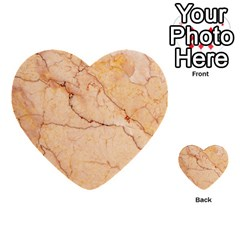 Stone Floor Marble Multi Purpose Cards (heart)  by essentialimage