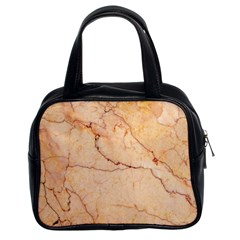 Stone Floor Marble Classic Handbags (2 Sides) by essentialimage