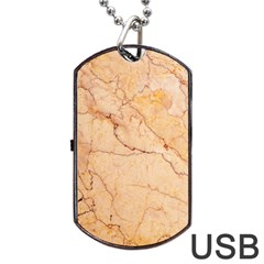 Stone Floor Marble Dog Tag Usb Flash (two Sides)  by essentialimage
