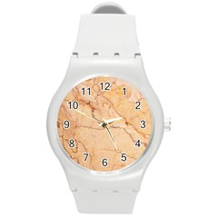 Stone Floor Marble Round Plastic Sport Watch (m) by essentialimage