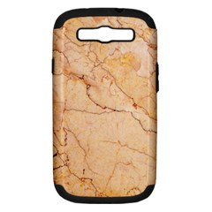 Stone Floor Marble Samsung Galaxy S Iii Hardshell Case (pc+silicone) by essentialimage
