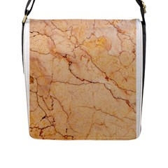 Stone Floor Marble Flap Messenger Bag (l)  by essentialimage