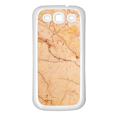 Stone Floor Marble Samsung Galaxy S3 Back Case (white) by essentialimage