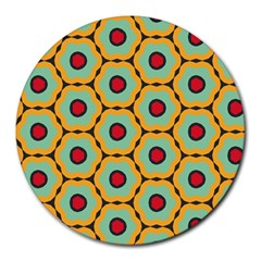 Floral Pattern 			round Mousepad by LalyLauraFLM