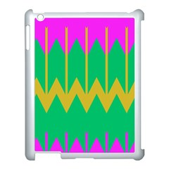 Chevrons			apple Ipad 3/4 Case (white) by LalyLauraFLM
