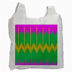 Chevrons 			recycle Bag (one Side) by LalyLauraFLM