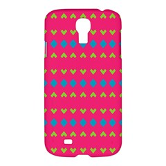 Hearts And Rhombus Pattern			samsung Galaxy S4 I9500/i9505 Hardshell Case by LalyLauraFLM