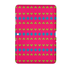 Hearts And Rhombus Pattern			samsung Galaxy Tab 2 (10 1 ) P5100 Hardshell Case by LalyLauraFLM