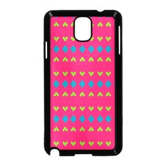 Hearts And Rhombus Pattern			samsung Galaxy Note 3 Neo Hardshell Case (black) by LalyLauraFLM