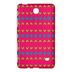 Hearts And Rhombus Pattern			samsung Galaxy Tab 4 (8 ) Hardshell Case by LalyLauraFLM