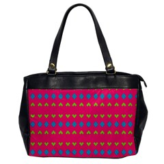 Hearts And Rhombus Pattern 			oversize Office Handbag by LalyLauraFLM