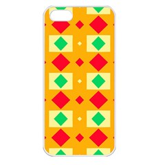Green Red Yellow Rhombus Pattern			apple Iphone 5 Seamless Case (white) by LalyLauraFLM