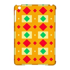 Green Red Yellow Rhombus Pattern			apple Ipad Mini Hardshell Case (compatible With Smart Cover) by LalyLauraFLM