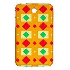 Green Red Yellow Rhombus Pattern			samsung Galaxy Tab 3 (7 ) P3200 Hardshell Case by LalyLauraFLM