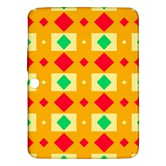 Green Red Yellow Rhombus Pattern			samsung Galaxy Tab 3 (10 1 ) P5200 Hardshell Case by LalyLauraFLM
