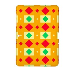 Green Red Yellow Rhombus Pattern			samsung Galaxy Tab 2 (10 1 ) P5100 Hardshell Case by LalyLauraFLM
