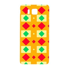 Green Red Yellow Rhombus Pattern			samsung Galaxy Alpha Hardshell Back Case by LalyLauraFLM