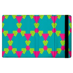 Triangles Honeycombs And Other Shapes Pattern			apple Ipad 3/4 Flip Case by LalyLauraFLM