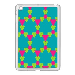 Triangles Honeycombs And Other Shapes Pattern			apple Ipad Mini Case (white) by LalyLauraFLM