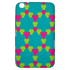Triangles Honeycombs And Other Shapes Pattern			samsung Galaxy Tab 3 (8 ) T3100 Hardshell Case by LalyLauraFLM