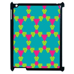 Triangles Honeycombs And Other Shapes Pattern			apple Ipad 2 Case (black) by LalyLauraFLM