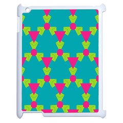 Triangles Honeycombs And Other Shapes Pattern			apple Ipad 2 Case (white) by LalyLauraFLM