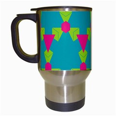 Triangles Honeycombs And Other Shapes Pattern Travel Mug (white) by LalyLauraFLM