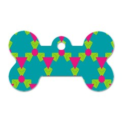 Triangles Honeycombs And Other Shapes Pattern 			dog Tag Bone (one Side) by LalyLauraFLM