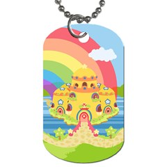 Rain Bow Dog Tag (two Sided)  by Ellador