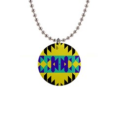 Tribal Design 			1  Button Necklace by LalyLauraFLM
