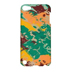 Texture In Retro Colors			apple Ipod Touch 5 Hardshell Case by LalyLauraFLM
