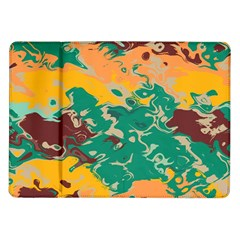 Texture In Retro Colors			samsung Galaxy Tab 10 1  P7500 Flip Case by LalyLauraFLM