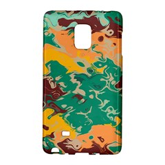 Texture In Retro Colors			samsung Galaxy Note Edge Hardshell Case by LalyLauraFLM