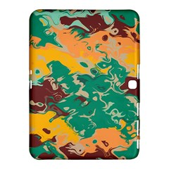 Texture In Retro Colors			samsung Galaxy Tab 4 (10 1 ) Hardshell Case by LalyLauraFLM