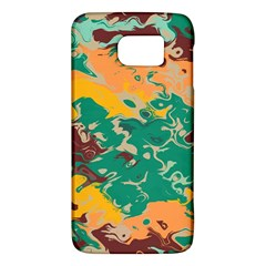 Texture In Retro Colors			samsung Galaxy S6 Hardshell Case by LalyLauraFLM