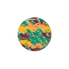Texture In Retro Colors 			golf Ball Marker (4 Pack)