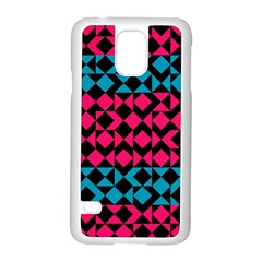 Rhombus And Triangles			samsung Galaxy S5 Case (white) by LalyLauraFLM