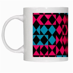 Rhombus And Triangleswhite Mug