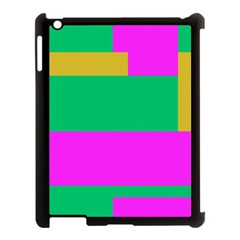 Rectangles And Other Shapes			apple Ipad 3/4 Case (black) by LalyLauraFLM