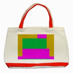 Rectangles And Other Shapes 			classic Tote Bag (red) by LalyLauraFLM