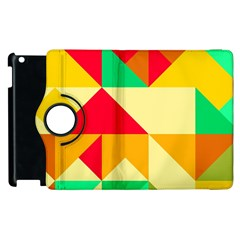 Retro Colors Shapes			apple Ipad 3/4 Flip 360 Case by LalyLauraFLM