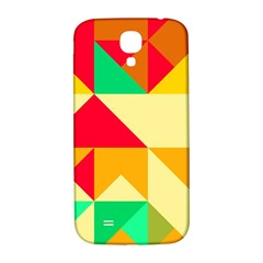 Retro Colors Shapes			samsung Galaxy S4 I9500/i9505 Hardshell Back Case by LalyLauraFLM