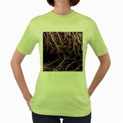 Purple Twigs Women s Green T Shirt by timelessartoncanvas
